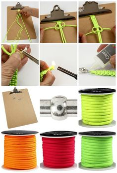se hvordan du kan knytte et armbånd af faldskærmssnor. En kreativ idé børn kan lave mens de kører bil på sommerferie - i solen og hvis det bliver regnvejr