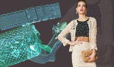 Gancho traje da coleção da Dolce & Gabbana Verão 2013: crochê e tricô