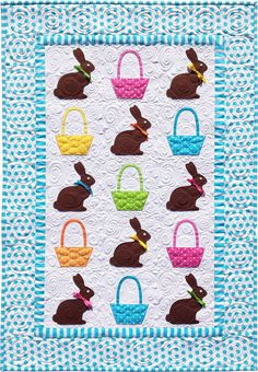 Chocolate Bunnies Quilt Pattern by Amy Bradley