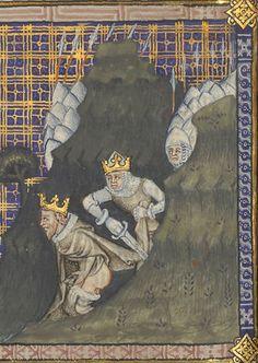 Bibliothèque nationale de France, Département des Manuscrits, Français 22913, detail of f.186v. St Augustine, De civitate dei (French translation by Raoul de Presle). 1370-1380.