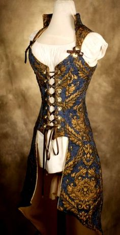 easy to add halter top, and good fabric choice... this company is a big competitor of yours for Steampunk and Renn Fest!