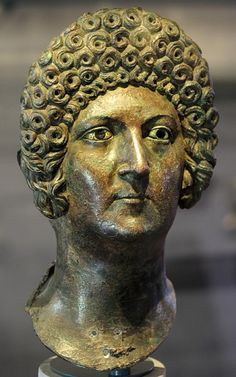 Portrait of a member of Flavian dynasty. Bronze.