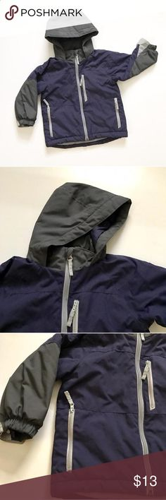 Children's Place navy blue and grey hooded winter jacket/parka with extra zipper inside to attach a fleece jacket if you would like to Very good condition Children's Place Shirts & Tops