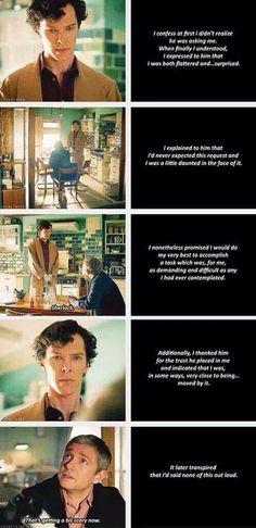 """Sherlock - TSOT - lovely """"best man"""" scene"""