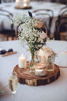 déco table printemps originale idée centre table chic inspiration décoration mariage