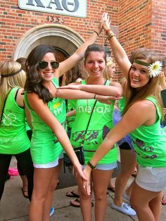 Kappa Alpha Theta Bid Day #KappaAlphaTheta #Theta #BidDay #neon #sorority