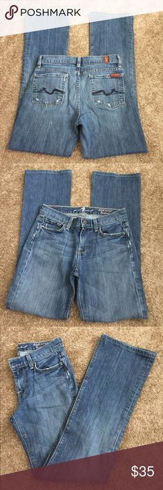 7 for all mankind Jeans Size 26/2 High waisted bootcut jeans size 26/2. Distressed jeansMake an offer accepts most offers 7 For All Mankind Jeans Boot Cut