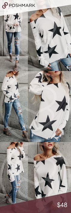 AMANDA Star Top A MUST HAVE for any star lover!  NO TRADE  PRICE FIRM Bellanblue Tops