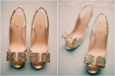 Kate Spade Charm Glitter Sling backs  $325
