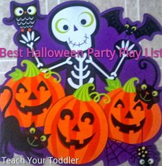 Teach Your Toddler: Best Halloween Party Play List. Kids will seriously love this Halloween music