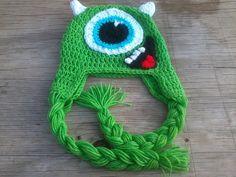 Monsters INC. Mike Wazowski Crocheted Hat