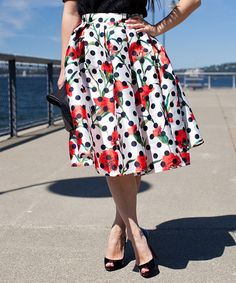 Look at this t+j Designs Ivory Polka Dot & Carnation Pleated Midi Skirt on today! Pleated Midi Skirt, Dress Skirt, Midi Skirts, California Outfits, California Clothes, Vintage Inspired Outfits, Fancy Pants, Carnations, Dress Me Up
