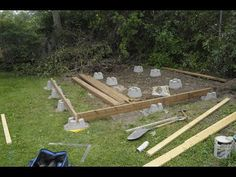 Part 2 in the Series. You will see an amateur try to build a foundation for a Shed, with Deck Blocks. Materials For Foundation. Building A Storage Shed, Outdoor Storage Sheds, Shed Building Plans, Diy Shed Plans, Outdoor Sheds, Building A Deck, Shed Storage, Building Ideas, Backyard Storage
