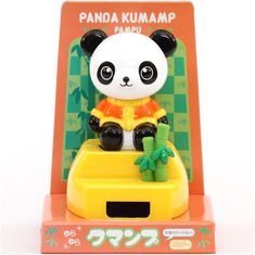 panda solar powered bobble head toy from Japan 1