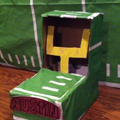 Football themed valentine box