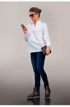Blugi eleganţi pentru gravide Coat, Jackets, Style, Fashion, Down Jackets, Moda, Sewing Coat, Stylus, Jacket