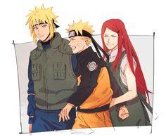 Minato, Naruto and Kushina Naruto And Kushina, Naruto Uzumaki Shippuden, Naruto Cute, Naruto Funny, Uzumaki Family, Naruto Family, Akatsuki, Comic Naruto, Familia Uzumaki