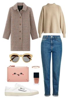Street style by dalma-m on Polyvore featuring polyvore fashion style The Row Topshop Yves Saint Laurent Anya Hindmarch STELLA McCARTNEY Witchery clothing