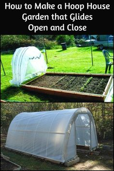 Protect Your Veges From Frost And Cold by Building a Hoop House That Glides Open And Closed