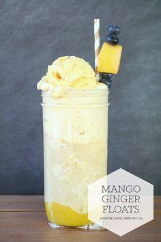 Mango Ginger Floats - thecraftedsparrow.com