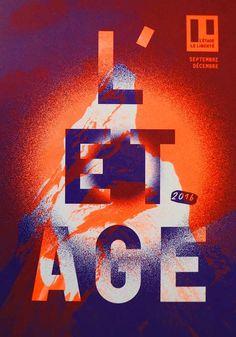 """poster / affiche """"L'Étage"""" (2016) music theater / salle de musique by Stéphanie Triballier, Le Jardin Graphique (France, Rennes)"""