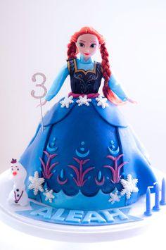 Frozen Anna Doll Cake! Xx