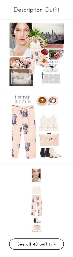 """""""Description Outfit"""" by cheroro ❤ liked on Polyvore featuring GET LOST, Prada, MANGO, Nine to Five, BCBGMAXAZRIA, Martha Stewart, daria, Karen Walker, tops and shirts"""