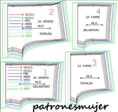 Pantalón bombacho: DIY - Patronesmujer: Blog de costura, patrones ... Kids Dress Patterns, Sewing Patterns Free, Baby Patterns, Clothing Patterns, Underwear Pattern, Lingerie Patterns, Sewing Lingerie, Sewing For Kids, Baby Sewing