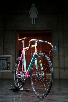 fixed bike #colorful #frame #bike #track
