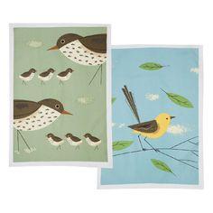 Thrush & Wagtail Tea Towels
