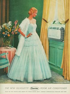 Sunny Harnett does an AD FOR for Carrier air conditioner, 1954 Vintage Air, Vintage Beauty, Vintage Love, Vintage Images, Vintage Ladies, Retro Vintage, Vintage Style, Vintage Signs, Vintage Prints