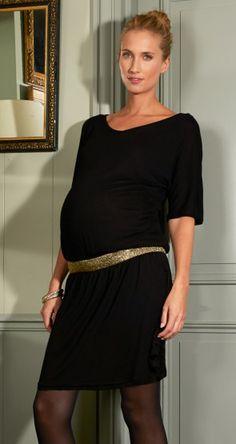 Robe grossesse bandeau coloré // Maternity dress with contrasting belt by Envie de Fraises