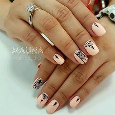 Nail art - #Art #Nail Winter Nail Designs, Christmas Nail Designs, Cute Nail Designs, Christmas Nails, Cute Nails, Pretty Nails, Shellac Designs, Nails Studio, Gold Nail Art