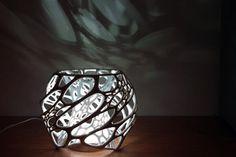 Bio-inspired Design: Nervous System's Cellular Lamp Lampe 3d, Led Lampe, Puzzle Lampe, 3d Printed Objects, 3d Modelle, 3d Printer Projects, 3d Home, Led Licht, 3d Prints
