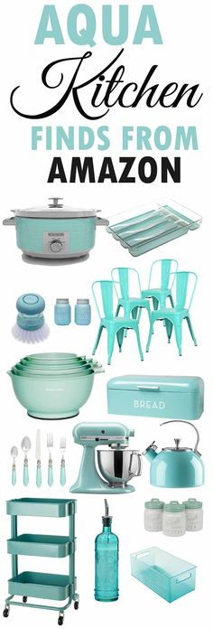 Aqua Kitchen Decor-Aqua Kitchen Accesories-From Amazon Online-www.themountainviewcottage@gmail.comm