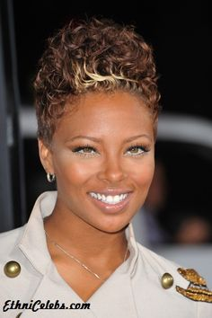 Eva Marcille-Pigford (top model)-African American and Puerto Rican Cute Short Natural Hairstyles, Short Black Hairstyles, Pretty Hairstyles, Natural Hair Styles, Mom Hairstyles, Short Sassy Hair, Short Hair Cuts, Short Hair Styles, Curly Short