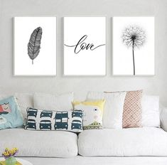 Black and White Dandelion Feathers Poster and Print Letter Love Wall Art Canvas Painting What is Decoration? Decoration may be … Love Wall Art, Framed Wall Art, Wall Art Decor, Canvas Wall Art, Room Decor, White Wall Decor, White Canvas Art, Wall Art Sets, Black Canvas
