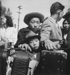 Japanese Americans Headed for Concentration Camp. 1942.