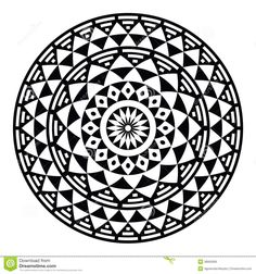 Buy Tribal Aztec Geometric Pattern or Print in Circle by RedKoala on GraphicRiver. Vector folk round pattern in black and white isolated on white FEATURES: Vector Shapes All groups have names All. Indian Patterns, Tribal Patterns, Print Patterns, White Patterns, Pattern Print, Mexican Designs, Aztec Designs, Image Tribal, Circular Tattoo Designs