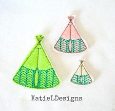 Teepee Felties Machine Embroidery Design Pattern Download 5 sizes ITH Feltie Design In The Hoop Felties Thanksgiving Oversized (4.00 USD) by KatieLDesigns