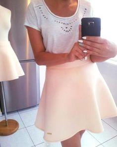 Morelowa, rozkloszowana spódniczka blogerek !!!
