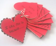 A Valentine from the whole class!  Have the hearts pre-cut and ready to go and each child can write in their answer.