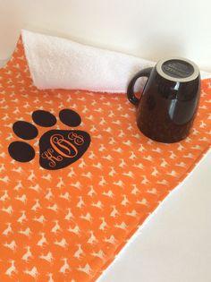 Tiger Paw Towel Auburn War Eagle Kitchen by MakingSomethingHappy Auburn, Tiger Paw, Dorm Ideas, Sunglasses Case, Towel, Eagle, War, Creative, Pretty
