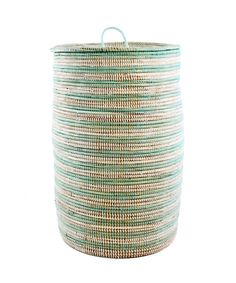 Handmade Fair Trade African Baskets and African Home decorations by Swahili Modern. View our large selection of handwoven basket collections from Africa for unique gifts and home decorations. White Laundry Hamper, Laundry Basket, Laundry Room, Laundry Storage, Basket Weaving, Hand Weaving, Room Accessories, Dot And Bo, Storage Baskets