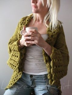 I'm adoring this hand knit cardigan