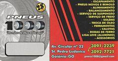 Eu recomendo Pneus 1000- Setor Pedro Ludovico, #Goiânia, #Goiás, #Brasil