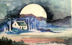 Moonlight in McGregor - watercolour Moonlight, Watercolour, Paintings, Art, Watercolor, Watercolor Painting, Paint, Painting Art, Kunst