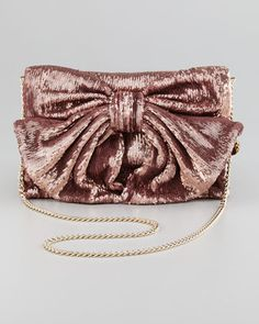 RED Valentino // Sequined Bow Shoulder Bag, Cammeo.