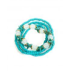 Four Strand Stretch Bracelet