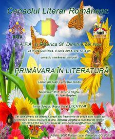 "Cenaclu literar - ""Primavara in literatura"", Biserica Ortodoxa Sfantul-Dimitrie, Frederick, Colorado http://www.sfdimitrie.org/ro/"